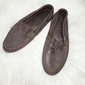 Minnetonka Dark Leather Moccasins